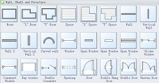 Design Elements  Home Plan  Floor Plans  Home PlanArchitectural Floor Plan Door Symbols