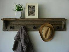 Reclaimed Wood Coat Rack Shelf Reclaimed Barn Wood Coat Rack Mud room entry rack necklace hanger 34