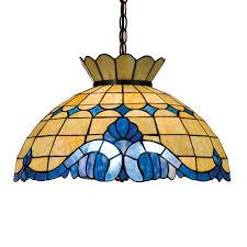 meyda tiffany baroque 20 in mahogany bronze tiffany style hardwired single stained glass dome