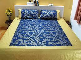 Screen Printing Designs For Bed Sheets Nistaksh Indulgence Cotton Designer Bed Sheet King Size