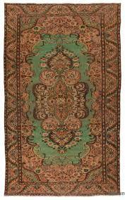 turkish vintage area rug 5 9 x 9 11