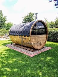 Sauna Extérieur Avec Remorque, Vestiaire Et Poêle à Bois Harvia: Spa De  Style Par