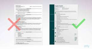Cv Template Zety 1 Cv Template Simple Resume Examples Resume
