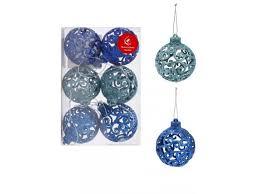 <b>Украшение Новогодняя сказка</b>, Набор шаров, 6 шт., 6 см синий ...