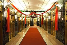 office holiday decor. Office Holiday Decorating Ideas Fabric And Wreath In Elevator Christmas Decoration Funny Decor
