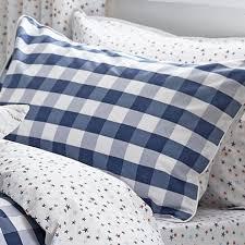 single bianca duvet set cotton blue single 1