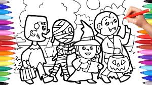 Kids who color generally acquire and use knowledge more efficiently and effectively. Halloween Coloring Pages For Kids Trick Or Treat Coloring Pages Halloween Costumes Coloring Pages Youtube