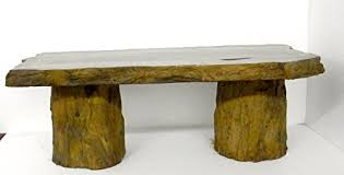 handmade fossilized bench concrete