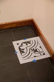 how to paint cement tile floors with faux slate floor tiles