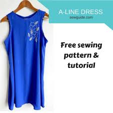 a line dress free sewing pattern