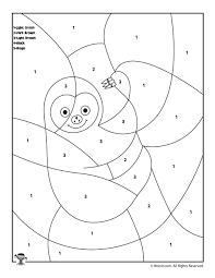 Coloring pages to print animal coloring pages free printable coloring pages coloring book pages coloring pages for kids coloring sheets valentines day. Sloth Color By Number Woo Jr Kids Activities