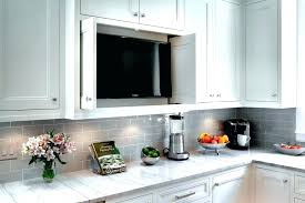 light y subway tile kitchen traditional with concealed custom cabinetry image by white grout grey backsplash