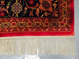 rug fringes cleaning before after