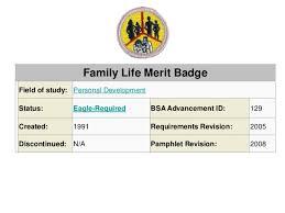 Family Life Merit_badge
