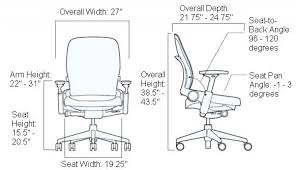 office chairs standard desk height cm