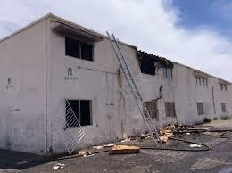 three units were damaged at the desert garden apartments 1720 w bonanza road