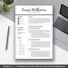 Best Selling Office Word Resume Cv Templates Cover Letter References For Digital Instant Download The Susan Resume