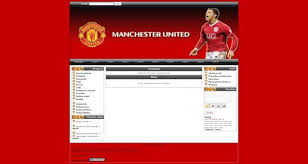Php Website Templates Cool Phpfusion Manchester United Soccer Theme Free Web Templates