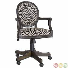 wooden swivel desk chair. Zebra Print Solid Mahogany Wood Frame Swivel Office Desk Chair 23077 Inside Dimensions 1080 X Wooden