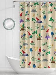 gnome shower curtain garden gnome