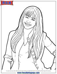 Disney Channel Hannah Montana Coloring Page H M Coloring Pages