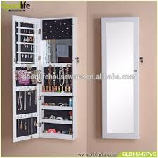 Wall Mounted Jewellery Cabinet With Mirror Wall Jewelry W26