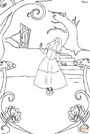 Small Picture Pages Tim Burton Alice Alice In Wonderland Coloring Pages In