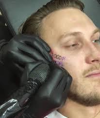 рэпер T Killah сделал татуировку на лице после победы россии над