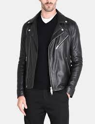 ac luxury collection leather jacket. armani exchange asymmetrical leather moto jacket man front ac luxury collection leather jacket