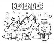 December Coloring Pages Free Printable
