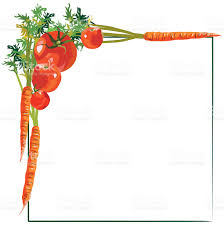 Small Picture Vegetable Border Clip Art