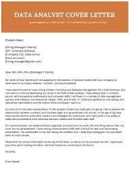 Data Analyst Cover Letter Example Template For Job Opening
