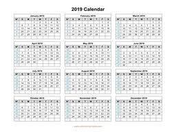 Calendar Template With Picture 2019 Calendar Template