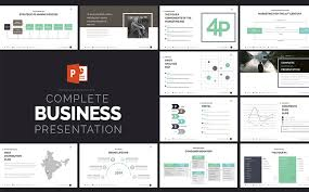 bold powerpoint templates complete business presentation powerpoint template 63510