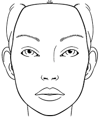 Blank Face Charts To Print Blank Face Chart Sketch Coloring Page In 2019 Makeup Face