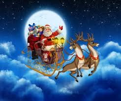 real santa claus and reindeer flying. Santa Claus On Reindeer Flying Through The Sky Stock Photo 23836162 With Real And
