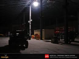 perlo construction using moonglo balloon lights for temporary job site lighting in newly constructed buildings