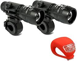 LUPO CREE <b>Bike Light</b> Set - Front and Rear Bike <b>Q5</b> LED Light Set ...