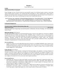 Project Manager Resume Samples - Download Free Templates in PDF and Word