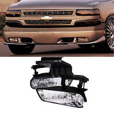 Details About 2x For 99 02 Silverado 00 06 Suburban Tahoe 02 06 Escalade Clear Lens Fog Lights