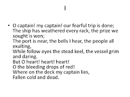 o captain my captain walt whitman ppt video online  my captain background 3 i