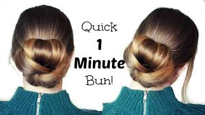 60 Hair Style quick and easy 60 second bun hairstyle updo easy hairstyles 1814 by wearticles.com