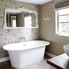 bathroom wallpaper. 15 Gorgeous Bathroom Wallpaper Design Ideas Rilane For Designs I
