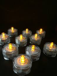 Battery Operated Amber Led Lights Us 58 07 12 Off 100pcs Battery Operated Led Tealight Submersible Waterproof Candle Lamp Wedding Party Flameless Home Vase Floralytes Decor Amber In