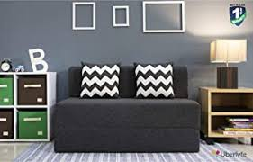 Uberlyfe <b>Two</b> Seater <b>Sofa</b> Cum <b>Bed</b> - Perfect for Guests