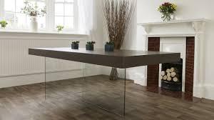 aria espresso dark wood and glass dining table  dark wood dark
