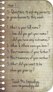 questions to ask your parents or grandparents this week week  5 questions to ask your parents or grandparents this week week 1