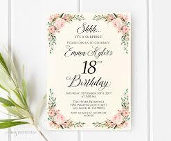 023 022 18th Birthday Invitation Maker Free Royal Blue Card