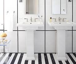 20 black and white bathroom floor tile design to refresh the bathroom look striped motif black and white bathroom floor tile