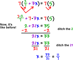solving equations cool math pre algebra help lessons how to  7 2 7 3x 7 5 which gives
